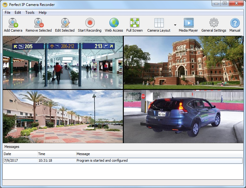 Apple Mac OS X Video Surveillance Start Page
